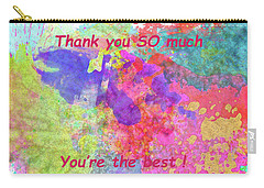 Carry-all Pouch featuring the photograph Thank You So Much Hibiscus Abstract by Kay Brewer