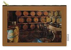 Carry-all Pouch featuring the photograph The Barrel Room by Thom Zehrfeld