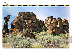 Arches Hoodoos And Castles The Big Picture Little City Of Rocks Carry-all Pouch