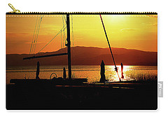 Carry-all Pouch featuring the photograph the Boat and the Sky by Milena Ilieva