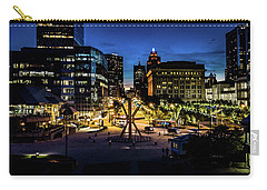 Carry-all Pouch featuring the photograph The Calling At Blue Hour by Randy Scherkenbach