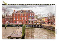 Carry-all Pouch featuring the photograph The Central Hotel - Delaware City by Kristia Adams