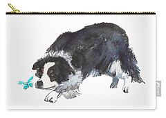 The Collie And Blue Butterfly Carry-all Pouch
