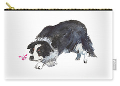 The Collie And Pink Butterfly Carry-all Pouch