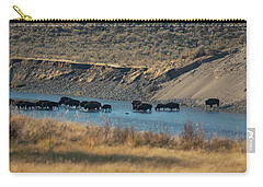 Carry-all Pouch featuring the photograph The Crossing by Pete Federico