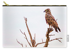 Carry-all Pouch featuring the photograph The Crowned Eagle by Kay Brewer