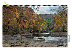 Carry-all Pouch featuring the photograph The Flyfisherman by Joe Sparks
