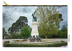 The Fountain Of The Fallen Angel In Madrid Carry-all Pouch