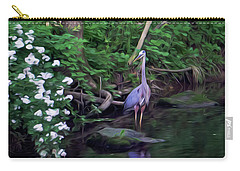 The Great Blue Heron - Impressionism Carry-all Pouch
