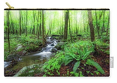 Carry-all Pouch featuring the photograph The Green Forest by Bill Wakeley