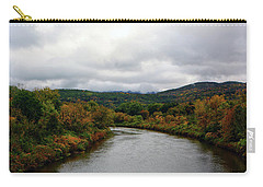 Carry-all Pouch featuring the photograph The Housatonic River From A Bridge In Adams Ma by Raymond Salani III