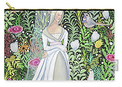 The Lady Vanity Takes A Break From Mirroring To Dream Of An Unusual Garden  Carry-all Pouch