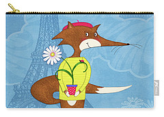 The Letter F For French Fox Carry-all Pouch