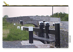 Carry-all Pouch featuring the painting The Locks At Cloondara, Co. Longford by Val Byrne