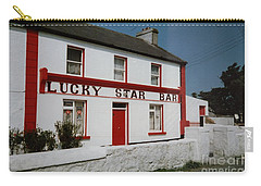 Carry-all Pouch featuring the painting The Lucky Star Bar, Kilronan, Aran by Val Byrne