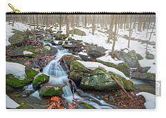 Carry-all Pouch featuring the photograph The November Forest by Bill Wakeley