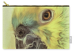 Carry-all Pouch featuring the photograph The Parrot Sketch by Leigh Kemp