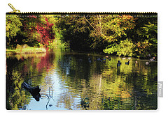 Carry-all Pouch featuring the photograph The Pond At Inglewood House by Jeremy Lavender Photography