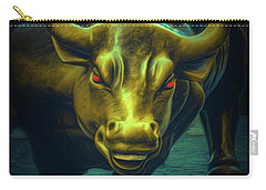 Carry-all Pouch featuring the photograph The Raging Bull by Chris Lord