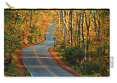 Carry-all Pouch featuring the photograph The Road Up Mount Greylock by Raymond Salani III