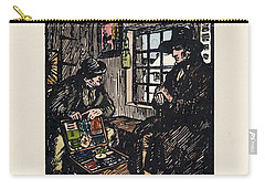 Carry-all Pouch featuring the painting The Sales Man by Val Byrne