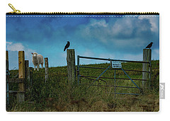 Carry-all Pouch featuring the photograph The Sheep That Hates Dogs by Chris Lord