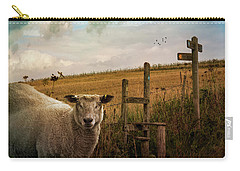 Carry-all Pouch featuring the photograph The Sheep Who Knows Where She's Going by Chris Lord