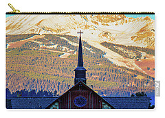 Carry-all Pouch featuring the photograph The Soldiers Chapel by Pete Federico