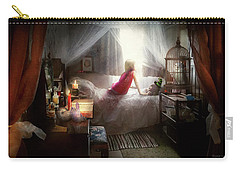 Carry-all Pouch featuring the photograph The Sorcerer's Apprentice by Mike Savad - Abbie Shores