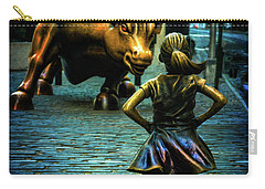 Carry-all Pouch featuring the photograph The Standoff by Chris Lord
