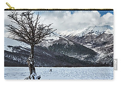 The Tree And The Beautiful Snowy Paradise Carry-all Pouch