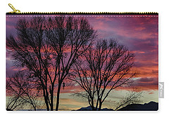 Carry-all Pouch featuring the photograph The Trees Know Sunset by Gaelyn Olmsted