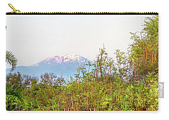 Carry-all Pouch featuring the photograph The Venerable Mt Kilimanjaro by Kay Brewer