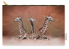 The Watchers - Three Giraffes Carry-all Pouch