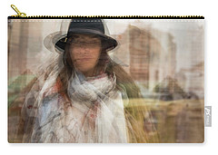 Carry-all Pouch featuring the photograph The Woman In The Black Hat by Alex Lapidus