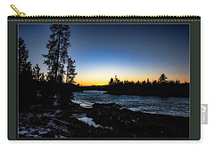 Carry-all Pouch featuring the photograph The Yellowstone River by Pete Federico