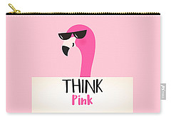 Think Pink - Baby Room Nursery Art Poster Print Carry-all Pouch