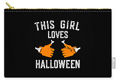 This Girl Loves Halloween Carry-all Pouch