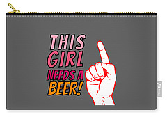 Beerpong Digital Art Carry-All Pouches