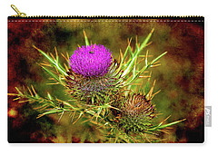Carry-all Pouch featuring the photograph Thistle Life by Milena Ilieva