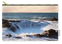 Carry-all Pouch featuring the photograph Thor's Well Oregon Sunset by Rospotte Photography
