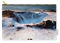 Carry-all Pouch featuring the photograph Thor's Well V3 101818 by Rospotte Photography