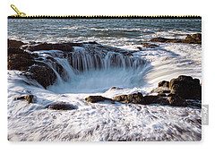Carry-all Pouch featuring the photograph Thor's Well Yachats Oregon 102518 by Rospotte Photography