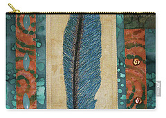 Threaded Feather Carry-all Pouch