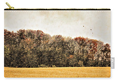 Three Crows And Golden Field Carry-all Pouch
