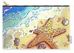 Tidal Beach Starfish Carry-all Pouch