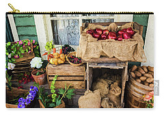 Carry-all Pouch featuring the photograph Time Of Harvest - Hope Valley Art by Jordan Blackstone