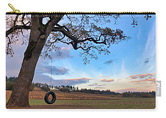 Carry-all Pouch featuring the photograph Tire Swing Tree by Brian Eberly