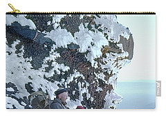 Carry-all Pouch featuring the photograph Tm5301 Ed Parker On Three Fingered Jack 1957 Or by Ed Cooper Photography