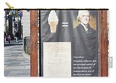 Carry-all Pouch featuring the photograph Tomas Jefferson's Ice Cream Recipe At Rushmore Monument by Tatiana Travelways